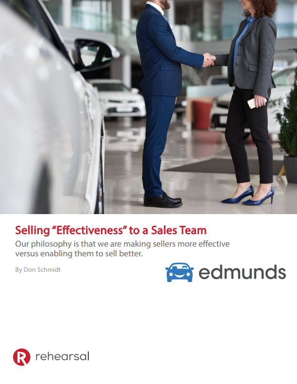Selling 'Effectiveness' to a Sales Team White Paper Cover